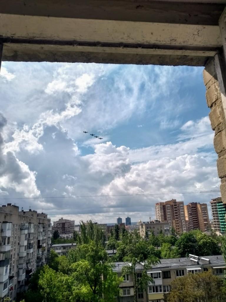 Русские соколы полетели: небо над Ростовом 9 мая 2020 года.